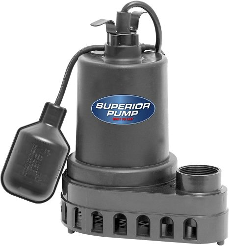 Superior Pump 92570 Thermoplastic Submersible | Pond Water Pump