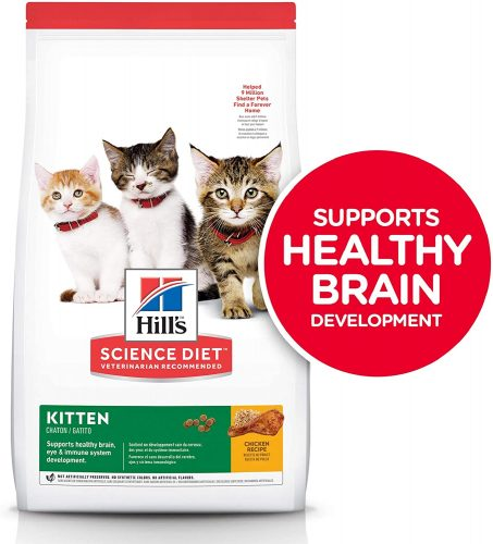 Hill's Science Diet Dry Cat Food, Kitten, Chicken Recipe | Hypoallergenic Cat Food