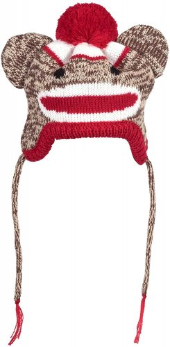 The Worthy Dog Sock Monkey Hat Comfortable, Warm, Acrylic Hat | Winter hats for dogs