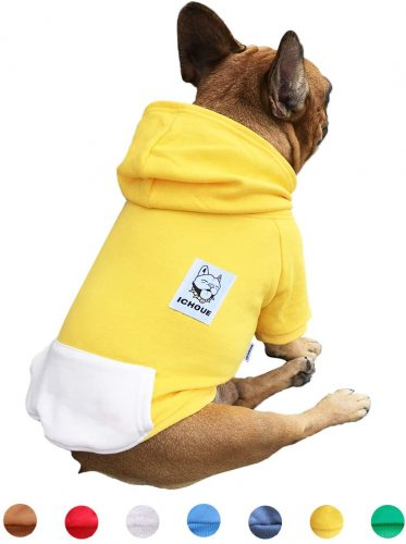 iChoue Pet Clothes Dog Hoodie Hooded Full | English bulldog clothes