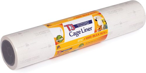 Prevue Hendryx Pet Products T3 Antimicrobial Cage Liner | Parrot Bedding & Litter