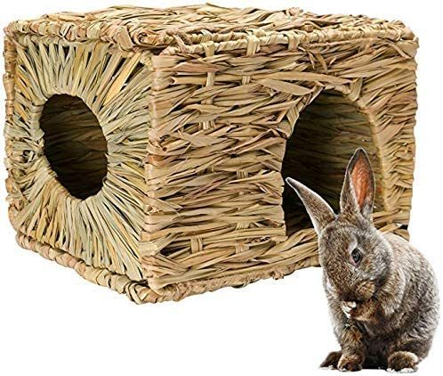 MODEMODE Natural Seagrass Mat Bed Hideaway Toy | Rabbit Shelters