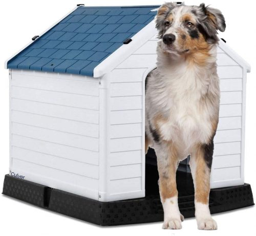 Dog House Durable Waterproof Plastic Dog Kennel