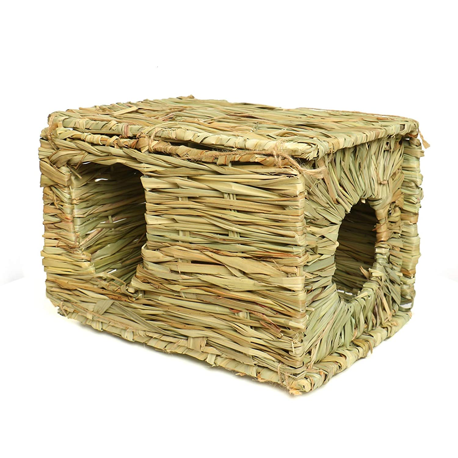 Rocinha Rabbit Grass House Hideaway Toy Natural Straw Woven Grass Bed Grass House for Rabbits | Rabbit Shelters