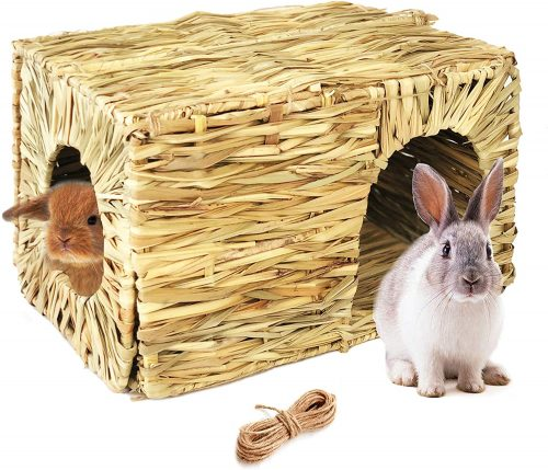 Hand Crafted Extra Large Grass House for Rabbits, Guinea Pigs and Small Animals | Rabbit Shelters
