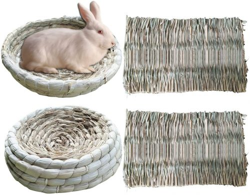 S-Mechanic 2 Pack Bunny Corn Husk Beds  | Pet Mat for Bunny