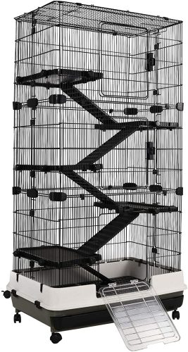 PawHut 6-Tier Platform Rolling Small Animal Cage| Chinchilla Cages