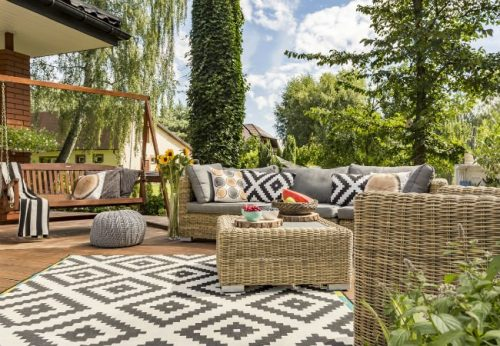 Renovate with indoor-outdoor rugs | How To Keep Your House Clean From Pet?