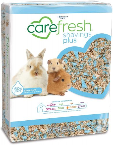 Carefresh Shavings Plus Blue Natural Paper Small Pet Bedding | Hedgehog Safe Bedding